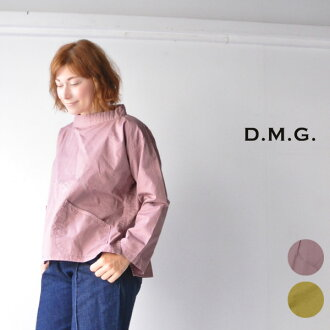 The D.M.G Domingo 16-529T DMG Rakuten card division made in fashion coordinates blouse smock blouse Lady's long sleeves smock tops cotton 100 Japan in the fourth and fifth decades of life