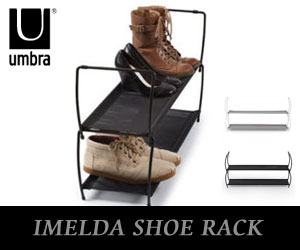 【UMBRA/アンブラ】 IMELDA SHOE RACK(イメルダ シューラックス)/シューズラック/靴収納/靴箱