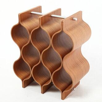 Plywood wine rack teak