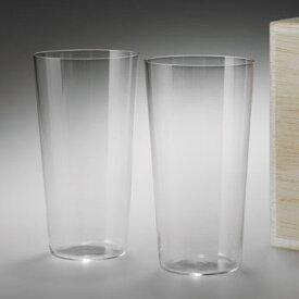 【松徳硝子】うすはりグラス・タンブラーL・2点セット・木箱付き