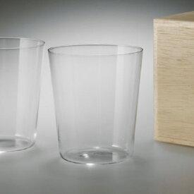 【松徳硝子】うすはりグラス・オールド L・2点セット・木箱付き