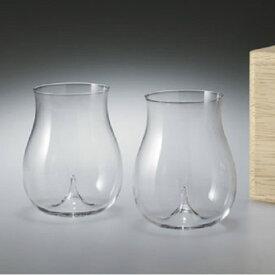 【松徳硝子】うすはりグラス・大吟醸・2点セット・木箱入り