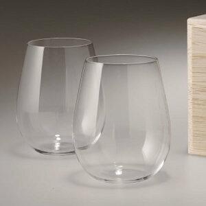【松徳硝子】うすはりグラス・葡萄酒器・ボルドー2点セット・木箱付き