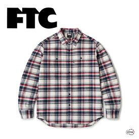FTC エフティーシー HEAVY PLAID NEL SHIRT FTC021AWSH01 ヘビープレイト ネルシャツ 長袖 チェック メンズ 羽織 ストリート ブランド スケボー 正規販売店 新品