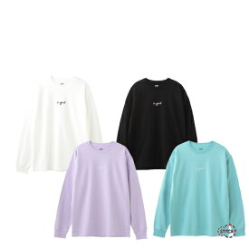 【クリックポスト配送】X-girl エックスガール CURSIVE LOGO L/S TEE 105205011003 長袖Tシャツ ロゴ ホワイト ブラック ライトパープル ライトグリーン レディース ユニセックス ロンT XGIRL 正規販売店