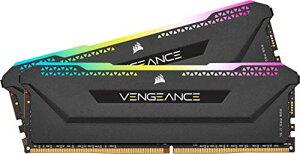 Corsair DDR4-3600MHz デスクトップPC用 メモリ VENGANCE RGB PRO SLシリーズ 32GB [16GB×2枚] CMH32GX4M2D3600C18