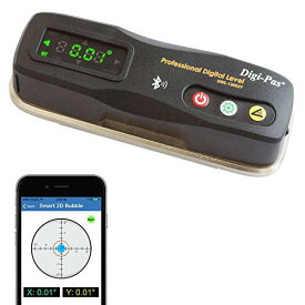 DigiPas 2軸精密スマートデジタル平形水準器 傾斜計 Bluetooth 0.2mm/m (DWL1300XY)