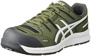 [アシックス] 安全靴 作業靴 ウィンジョブ CP103 チャイブグリーン/ホワイト 25.5 cm 3E