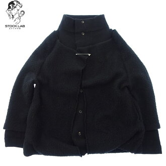 Y' s Rei Wise yard stand collar wool jacket 3 black Lady's