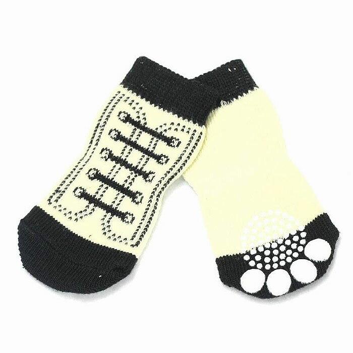 【EC】【送料無料】犬の靴下 HUGGY BUDDY'S(ハギーバディーズ) シューズソックス(スニーカー) (犬用靴下 1足分4個セット)【代金引換不可/同梱不可】