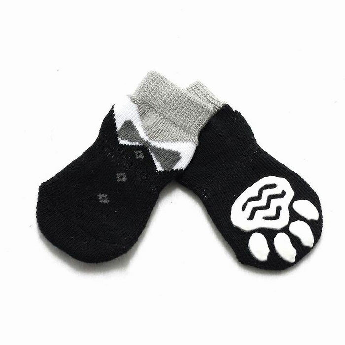 【EC】【送料無料】犬の靴下 HUGGY BUDDY'S(ハギーバディーズ) タキシードソックス (犬用靴下 1足分4個セット)【代金引換不可/同梱不可】