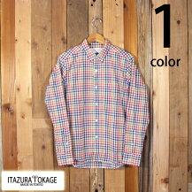 イタズラトカゲItazuraTokageコットンマドラスチェックボタンダウンシャツ長袖日本製国産19-SS-059