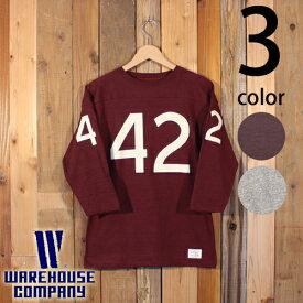 ウエアハウス WAREHOUSE 七分袖 フットボール Tシャツ 4063 NO.42