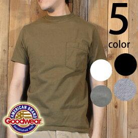 グッドウェア Goodwear 日本正規品 半袖 クルーネック ポケット Tシャツ
