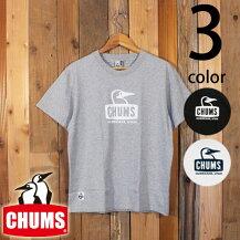 チャムスCHUMSブービーフェイスロゴ半袖TシャツCH01-1325