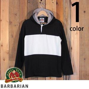 バーバリアン BARBARIAN Stockman Market別注モデル ラガーシャツパーカー フードリアン 2017model ST-1704