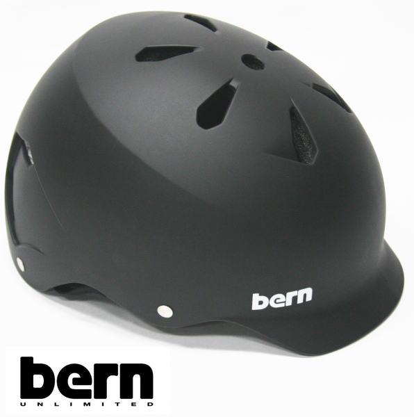 bern ヘルメット WATTS オールシーズンモデル Matte Black ジャパンフィット ワッツ 自転車 BMX スケボーヘルメット バーン ヘルメット【s7】