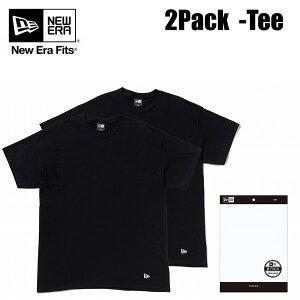 ニューエラ2枚入りTシャツ2PACKTeeブラック112291782パックNEWERATシャツ【s7】