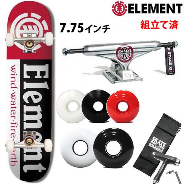 限定 インディペンデント ロゴ トラック 139 セット エレメント スケボー コンプリート SECTION 8.0x32.06インチ スケートボード【s1】