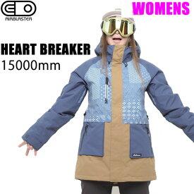 エアブラスター ウェア レディース ジャケット 18-19 HEARTBREAKER JACKET / NAVY JAPANACANA グレイシャー AIR blaster ウエア  スノーボード ウェア レディース 【C1】【s4】