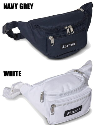 EVERESTエベレストウェストバッグ約2Lx2個セット(ブラック+1色)ウェストポーチEVERESTBAG【C1】