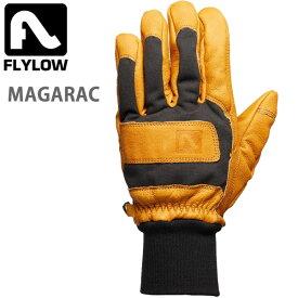 FLYLOW フライロウ グローブ MAGARAC Gloves 5本指 ナチュラル/ブラック レザー スノーボード スキー グローブ 手袋【C1】【s2】