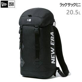 ニューエラ リュック NEWERA Rucksack Mini ラックサック ミニ 20.5L プリントロゴ ブラック×ホワイト 12325653 【C1】【s2】