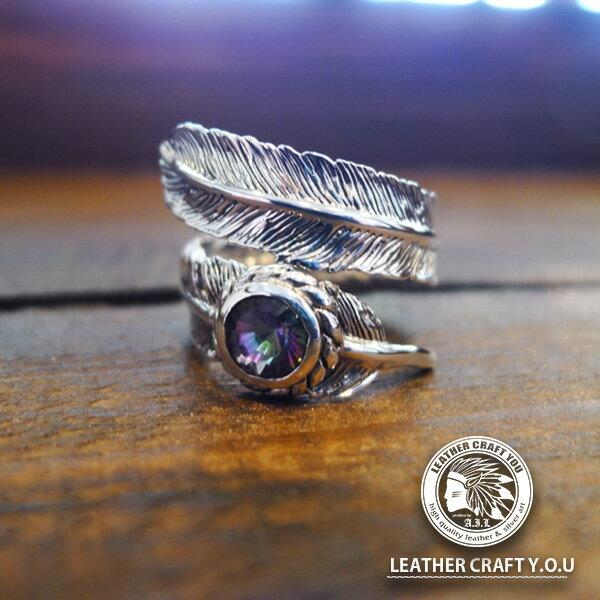 シルバーリング/指輪/シルバー925/ミスティッククォーツ/ゴシックスタイル/リング/フリーサイズ/ring-19053