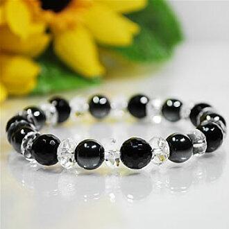 黑色電氣石 AAA x 赤鐵礦晶體 x < 天然石手鏈,石 > 1 (1)