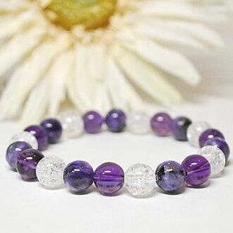紫晶 AA × 纳长硬 AAA x x 1 裂纹水晶 < 天然石手链或以上,石 >