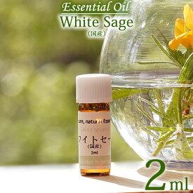 【ホワイトセージ(国産・自然栽培) 2ml】エッセンシャルオイル(精油) 無農薬/無添加/オーガニック White sage, Essential Oil, Salvia apiana