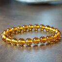 【高品質】アンバー(琥珀) 8mm ブレスレット 天然石 パワーストーン こはく amber