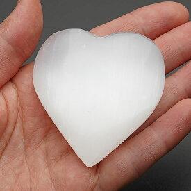 セレナイト ハート インテリア 置物 天然石 パワーストーン ジプサム 石膏 ハートストーン selenite