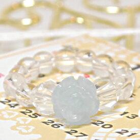 アクアマリン 水晶 [ローズリング(薔薇)]<天然石リング・パワーストーン>