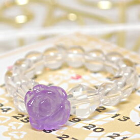 ラベンダーアメジスト 水晶 [ローズリング(薔薇)]<天然石リング・パワーストーン>