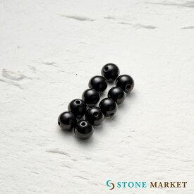 クールなブラックの天然石・メンズアクセサリーのパーツとして人気♪ルース(オニキス)[6mm 10粒セット] ストーンマーケット オニキス