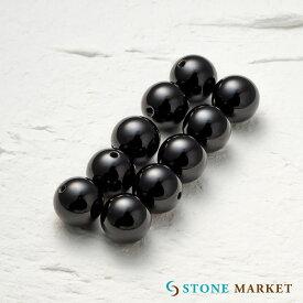 【10mm/10粒/オニキス】クールなブラックの天然石・メンズアクセサリーのパーツとして人気♪ルース ストーンマーケット