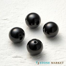 クールなブラックの天然石・メンズアクセサリーのパーツとして人気♪ルース(オニキス)[12mm 4粒セット] ストーンマーケット オニキス