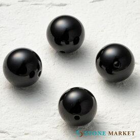 クールなブラックの天然石・メンズアクセサリーのパーツとして人気♪ルース(オニキス)[14mm 4粒セット] ストーンマーケット オニキス