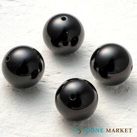【16mm/4粒/オニキス】クールなブラックの天然石・メンズアクセサリーのパーツとして人気♪ルース ストーンマーケット