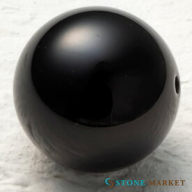 クールなブラックの天然石・メンズアクセサリーのパーツとして人気♪ルース(オニキス)[18mm1粒セット] ストーンマーケット オニキス