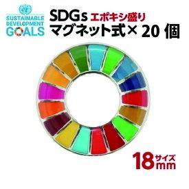 SDGS ピンバッジ 20個入り(18mmサイズ・マグネットタイプ)(エポ盛)#008