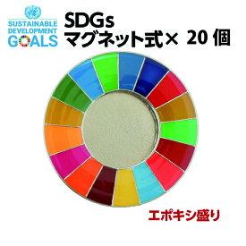 【送料無料】SDGS ピンバッジ 20個入り(25mmサイズ・エポ盛・マグネットタイプ)#004