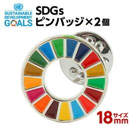 SDGS ピンバッジ 2個入り (18mm ミニサイズ)