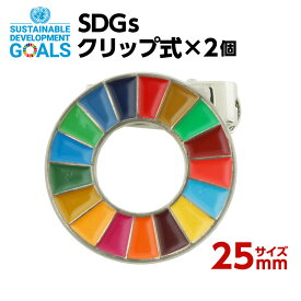 SDGsクリップ式 2個入り (25mmサイズ) #009