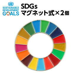 SDGS ピンバッジ 2個入り (マグネットタイプ)