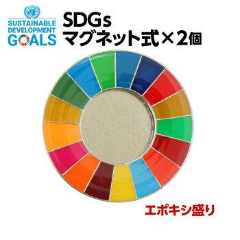 SDGSピンバッジ2個入り(マグネットタイプ)(エポ盛)