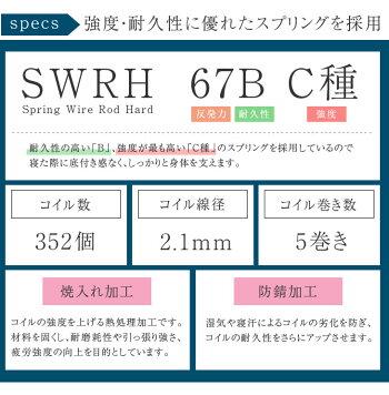 高密度コイル352個ボンネルコイルマットレスシングル