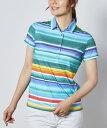 【公式】 マンシングウェア ネイティブパターン半袖シャツ【サンスクリーン】 レディース ウェア シャツ ポロシャツ …