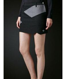 【公式】 デサントゴルフ ミックスストレッチRYOKU切り替えスカート【ECO】【UV】 レディース ウェア スカート ゴルフ スポーツ DGWRJE03